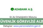 Adabank Güvenlik Görevlisi Alımı 2016
