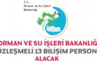 Orman ve Su İşleri Bakanlığı Personel Alımı 2016