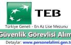TEB Güvenlik Görevlisi Alımı 2016