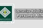 Osmaniye Belediyesi Personel Alımı 2016