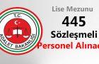 Adalet Bakanlığı 445 Sözleşmeli Personel Alımı