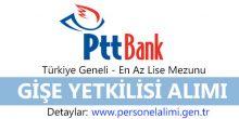 PTT Bank Gişe Yetkilisi Alımı 2016