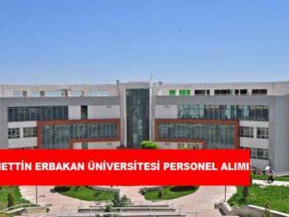 Necmettin Erbakan Üniversitesi Personel Alımı ve İş İlanları