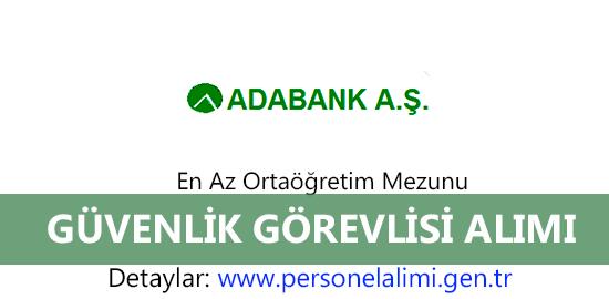 Adabank Güvenlik Görevlisi Alımı
