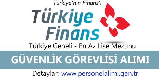 Türkiye Finans Güvenlik Görevlisi Alımı