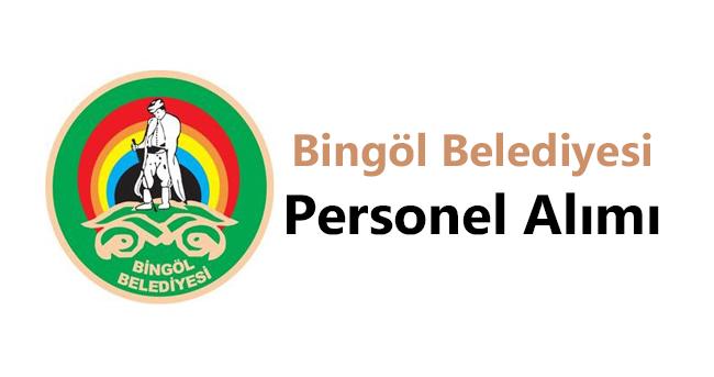 Bingöl Belediyesi Personel Alımı