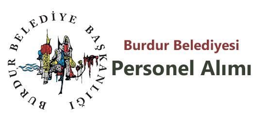 Burdur Belediyesi Personel Alımı
