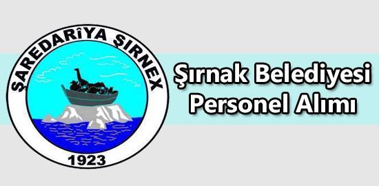 Şırnak Belediyesi Personel Alımı