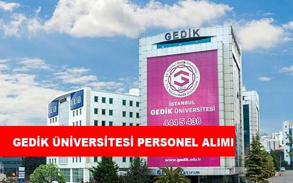 İstanbul Gedik Üniversitesi Personel Alımı ve İş İlanları