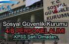 SGK Sözleşmeli Personel Alımı 2017