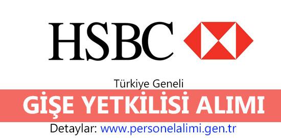HSBC Bank gişe yetkilisi alımı