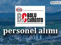 Bolu Çimento Personel Alımı