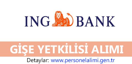 ING Bank Gişe Yetkilisi Alımı