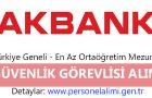 Akbank Güvenlik Görevlisi Alımı 2016