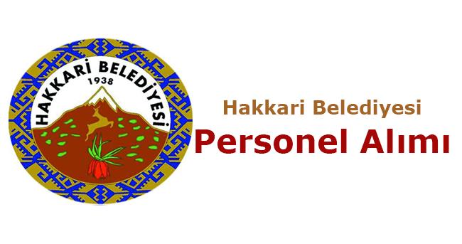 Hakkâri Belediyesi Personel Alımı