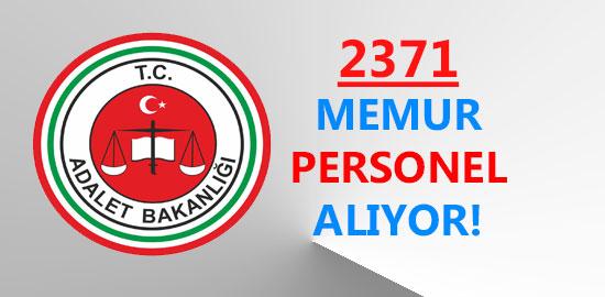adalet bakanlığı memur personel alımı 2371