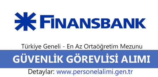 Finansbank güvenlik görevlisi alımı