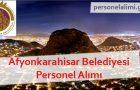 Afyonkarahisar Belediyesi Personel Alımı 2017