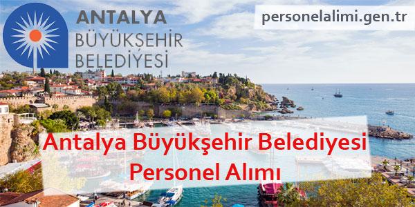 Antalya Büyükşehir Belediyesi Personel Alımı