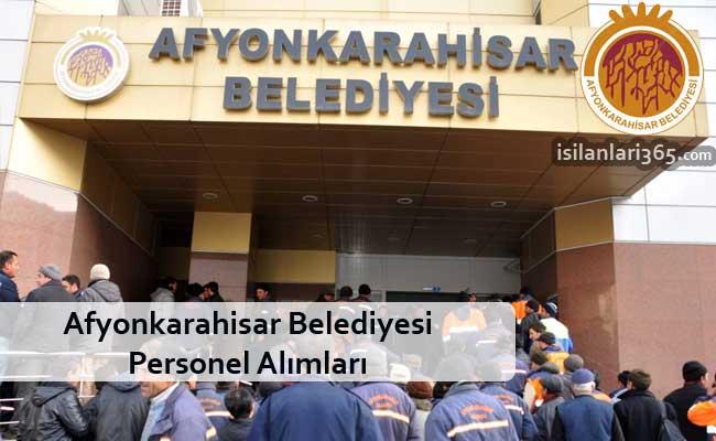 Afyonkarahisar belediyesi işçi alımı