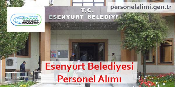 Esenyurt Belediyesi Personel Alımı