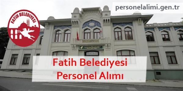 Fatih Belediyesi Personel Alımı