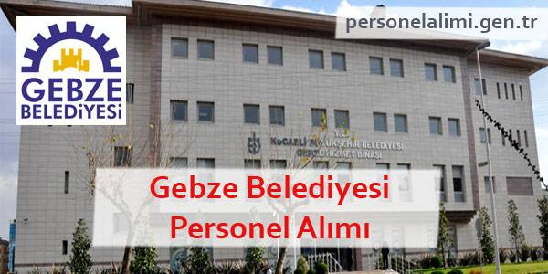 Gebze Belediyesi Personel Alımı