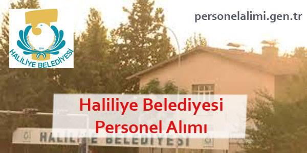 Haliliye Belediyesi Personel Alımı