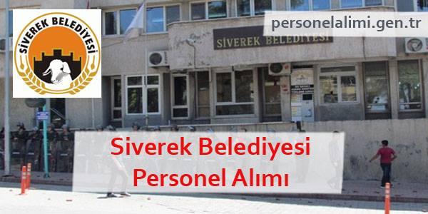 Siverek Belediyesi Personel Alımı
