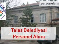 Talas Belediyesi Personel Alımı