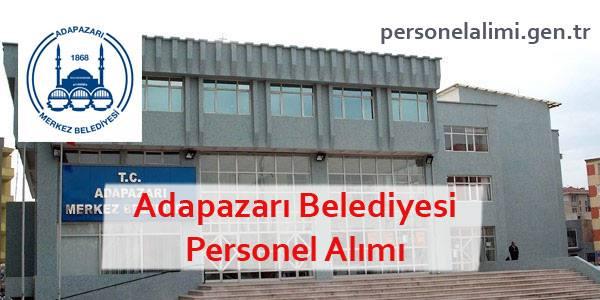 Adapazarı Belediyesi Personel Alımı