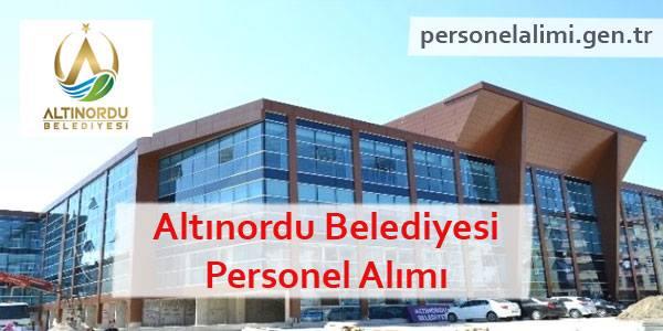Altınordu Belediyesi Personel Alımı
