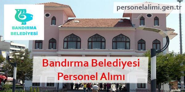Bandırma Belediyesi Personel Alımı