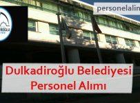 Dulkadiroğlu Belediyesi Personel Alımı