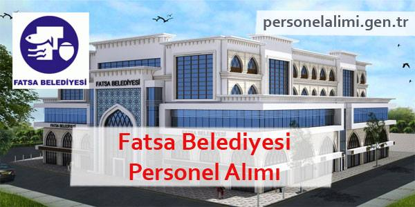 Fatsa Belediyesi Personel Alımı