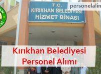 Kırıkhan Belediyesi Personel Alımı