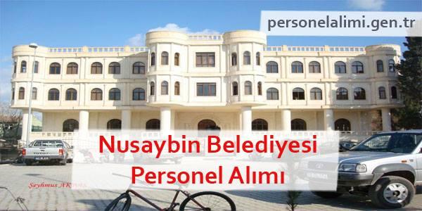 Nusaybin Belediyesi Personel Alımı
