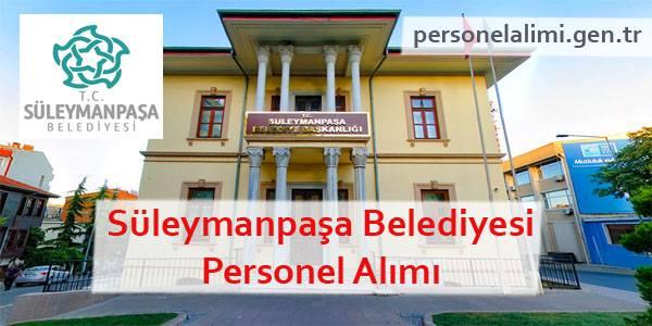 Süleymanpaşa Belediyesi Personel Alımı