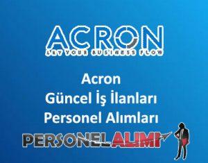 Acron Personel Alımı ve İş İlanları