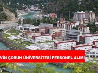 Artvin Çoruh Üniversitesi Personel Alımı ve İş İlanları
