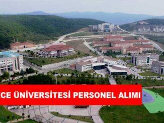 Düzce Üniversitesi Personel Alımı ve İş İlanları