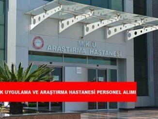 Sağlık Uygulama ve Araştırma Hastanesi Personel Alımı ve İş Başvurusu