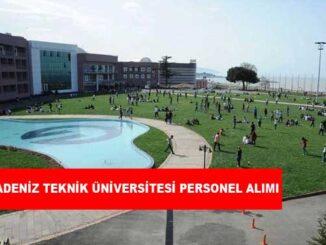 Karadeniz Teknik Üniversitesi Personel Alımı ve İş İlanları
