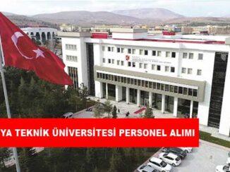 Konya Teknik Üniversitesi Personel Alımı ve İş İlanları