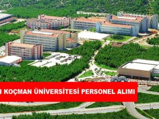 Muğla Sıtkı Koçman Üniversitesi Personel Alımı ve İş İlanları