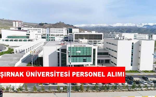 Şırnak Üniversitesi Personel Alımı ve İş Başvurusu