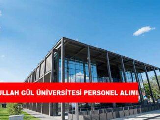 Abdullah Gül Üniversitesi Personel Alımı ve İş İlanları