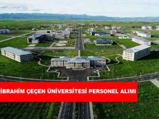 Ağrı İbrahim Çeçen Üniversitesi Personel Alımı ve İş İlanları