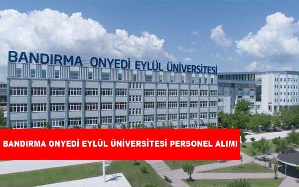 Bandırma Onyedi Eylül Üniversitesi Personel Alımı ve İş İlanları