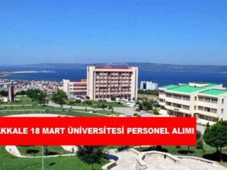 Çanakkale 18 Mart Üniversitesi Personel Alımı ve İş İlanları